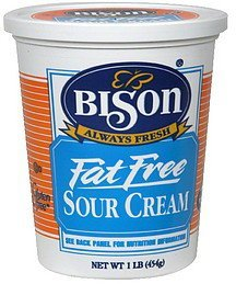 sour cream fat free Bison Nutrition info