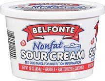 sour cream nonfat Belfonte Nutrition info