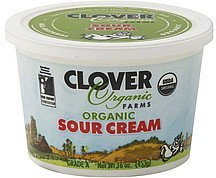 sour cream organic Clover Organic Farms Nutrition info