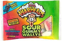 sour gummy wallys assorted flavors Mega Warheads Nutrition info