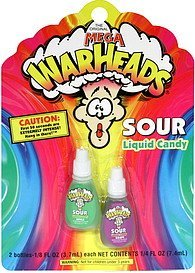 sour liquid candy grape and apple Mega Warheads Nutrition info