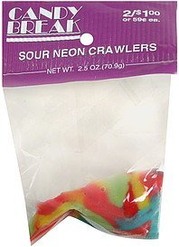 sour neon crawlers pre-priced Candy Break Nutrition info