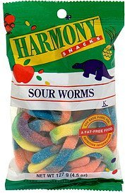 sour worms Harmony Snacks Nutrition info