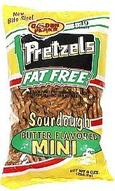 sourdough mini pretzels butter flavor, fat free Golden Flake Nutrition info