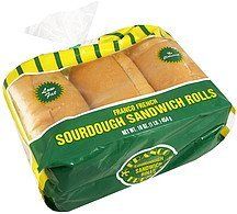 sourdough sandwich rolls Franco French Nutrition info
