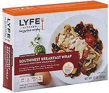 southwest breakfast wrap with masa corn crepe & black beans Lyfe Kitchen Nutrition info