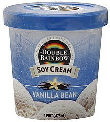 soy cream vanilla bean Double Rainbow Nutrition info