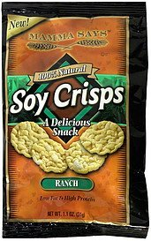 soy crisps ranch Mamma Says Nutrition info