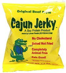 soy protein product original beef style Cajun Jerky Nutrition info