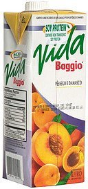 soy protein with peach and apricot juice and pulp drink Vida Baggio Nutrition info