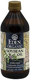 soybean oil unrefined Eden Organic Nutrition info
