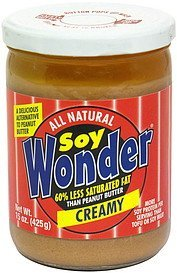 soybutter creamy Soy Wonder Nutrition info