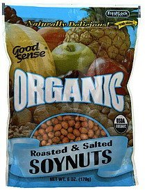 soynuts roasted & salted Good Sense Nutrition info