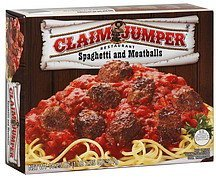 spaghetti and meatballs Claim Jumper Nutrition info