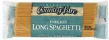 spaghetti enriched, long Midwest Country Fare Nutrition info