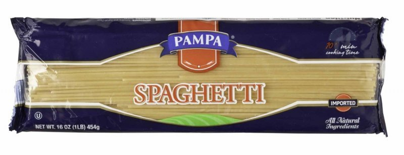 spaghetti enriched Pampa Nutrition info