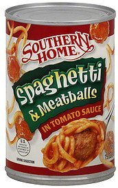spaghetti & meatballs in tomato sauce Southern Home Nutrition info