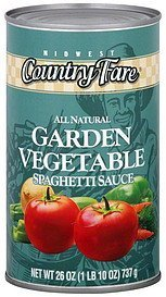 spaghetti sauce garden vegetable Midwest Country Fare Nutrition info