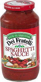 spaghetti sauce with mushrooms Dei Fratelli Nutrition info