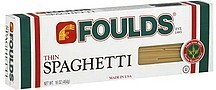spaghetti thin Foulds Nutrition info