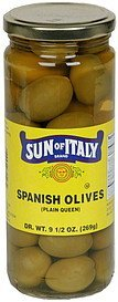 spanish olives plain queen Sun of Italy Nutrition info