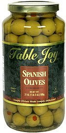 spanish olives Table Joy Nutrition info