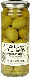 spanish queen olives cannon balls Laurel Hill Nutrition info