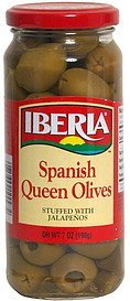 spanish queen olives stuffed with jalapenos IBERIA Nutrition info