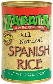spanish rice Zapata Nutrition info
