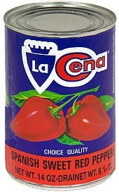 spanish sweet red peppers La Cena Nutrition info