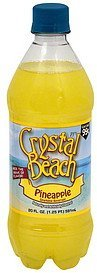 sparkling beverage pineapple Crystal Beach Nutrition info