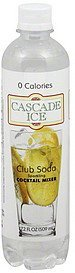 sparkling cocktail mixer club soda Cascade Ice Nutrition info