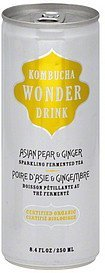 sparkling fermented tea asian pear & ginger Kombucha Wonder Drink Nutrition info