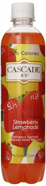 sparkling water strawberry lemonade Cascade Ice Nutrition info