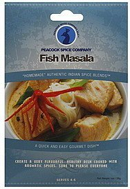 spice blend fish masala Peacock Spice Nutrition info