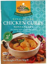 spice paste for curry chicken curry Asian Home Gourmet Nutrition info