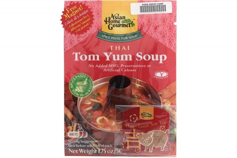 spice paste for thai tom yum soup Asian Home Gourmet Nutrition info
