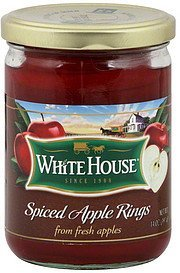 spiced apple rings White House Nutrition info