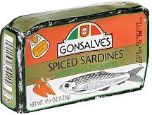 spiced sardines Gonsalves Nutrition info