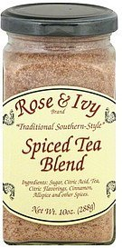 spiced tea blend Rose & Ivy Nutrition info