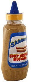 spicy brown mustard Sabrett Nutrition info