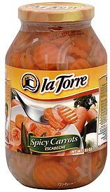 spicy carrots La Torre Nutrition info
