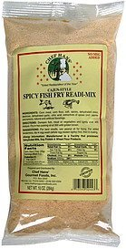 spicy fish fry readi -mix cajun style Chef Hans Nutrition info