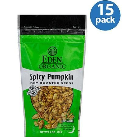 spicy pumpkin dry roasted seeds Eden Organic Nutrition info