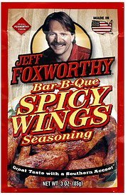 spicy wings seasoning bar-b-que Jeff Foxworthy Nutrition info