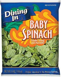 spinach baby Dining In Nutrition info