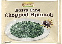 spinach chopped, extra fine Hampton Hills Nutrition info