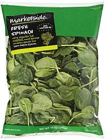 spinach fresh Marketside Nutrition info