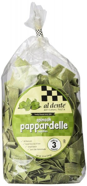 spinach pappardelle Al Dente Nutrition info
