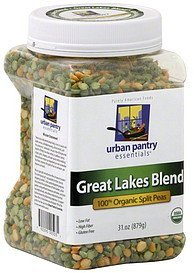 split peas 100% organic, great lakes blend Urban Pantry Essentials Nutrition info